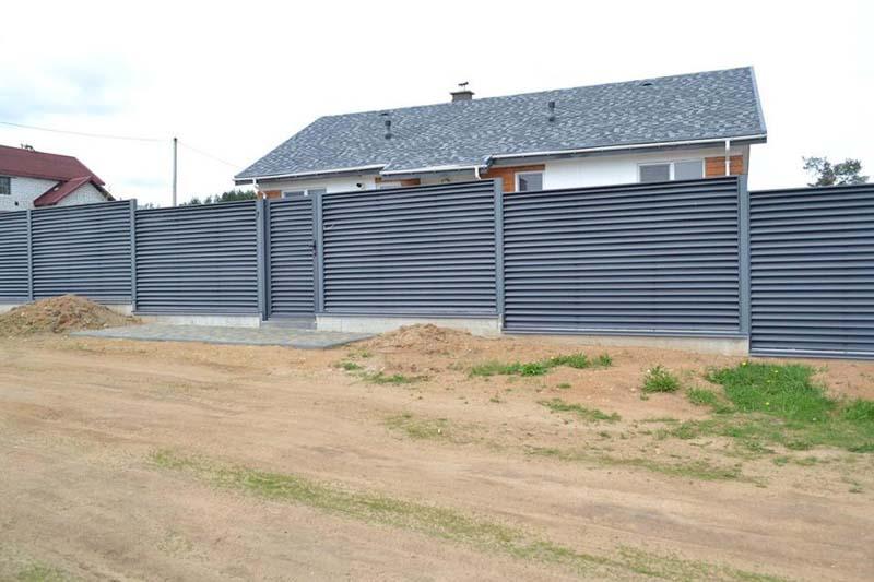 Aluzinc zogi staketa zogi Riga Latvija uzstadisana 13