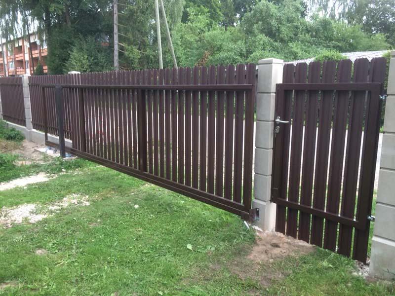 Aluzinc zogi staketa zogi Riga Latvija uzstadisana 14