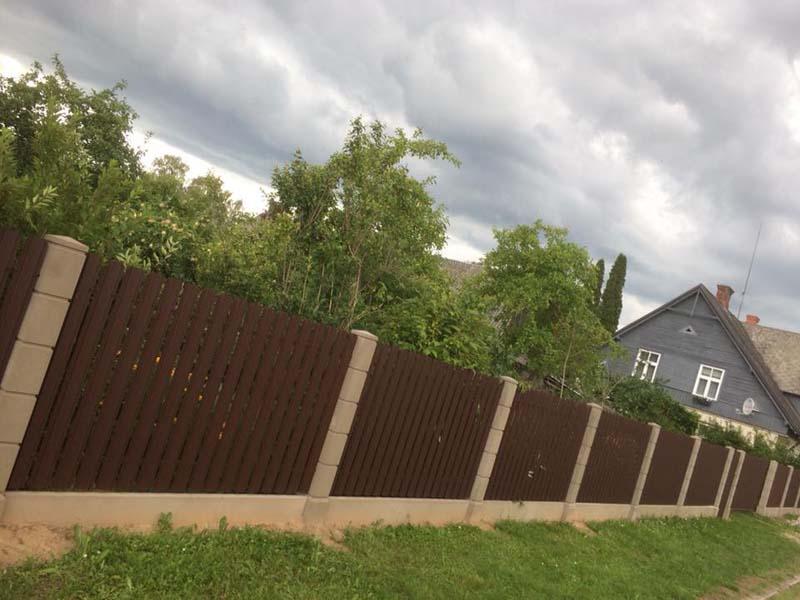 Aluzinc zogi staketa zogi Riga Latvija uzstadisana 15