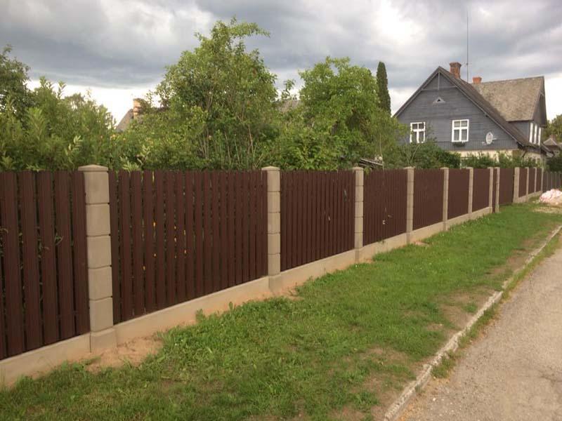 Aluzinc zogi staketa zogi Riga Latvija uzstadisana 16