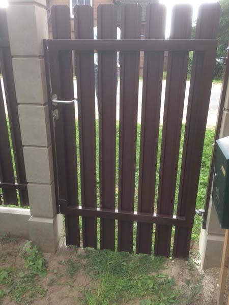 Aluzinc zogi staketa zogi Riga Latvija uzstadisana 17