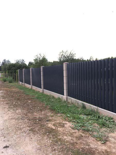 Aluzinc zogi staketa zogi Riga Latvija uzstadisana 23