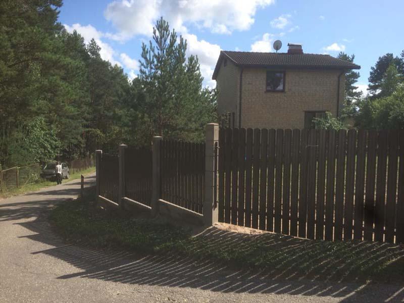 Aluzinc zogi staketa zogi Riga Latvija uzstadisana 26