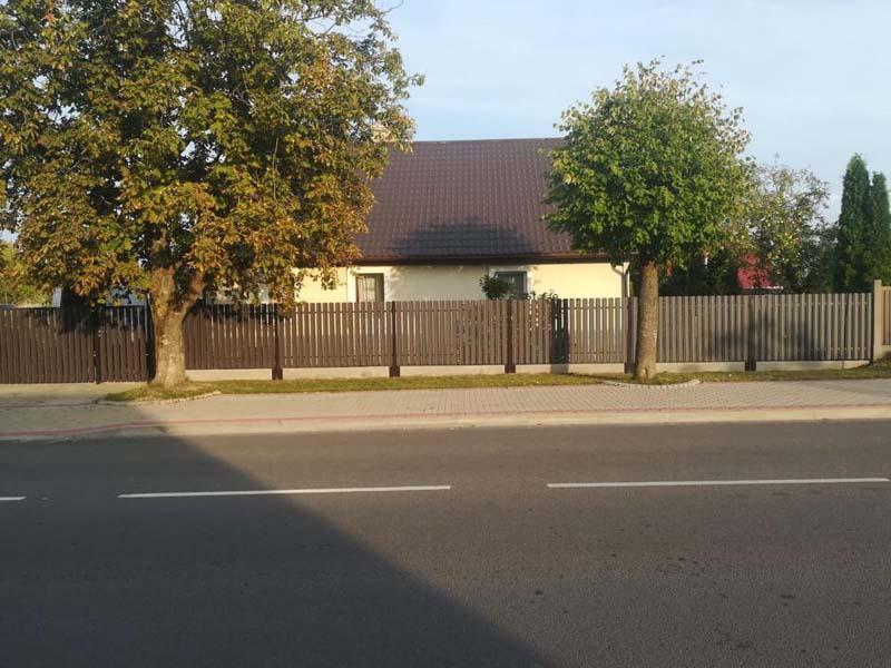 Aluzinc zogi staketa zogi Riga Latvija uzstadisana 31