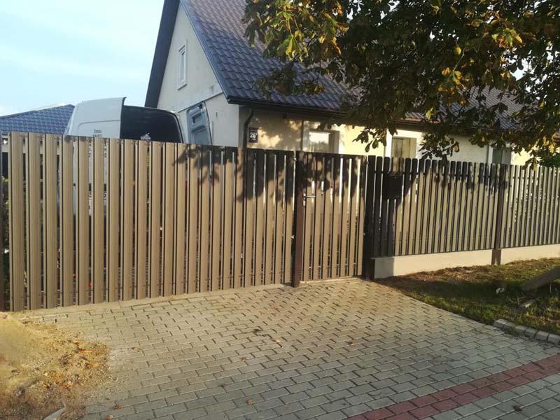 Aluzinc zogi staketa zogi Riga Latvija uzstadisana 32