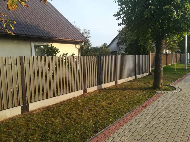 Aluzinc zogi staketa zogi Riga Latvija uzstadisana 33