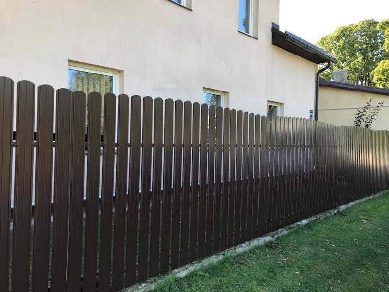 Aluzinc zogi staketa zogi Riga Latvija uzstadisana 34