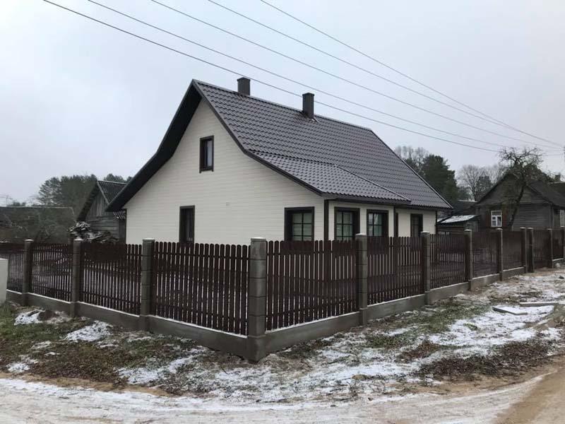 Aluzinc zogi staketa zogi Riga Latvija uzstadisana 36