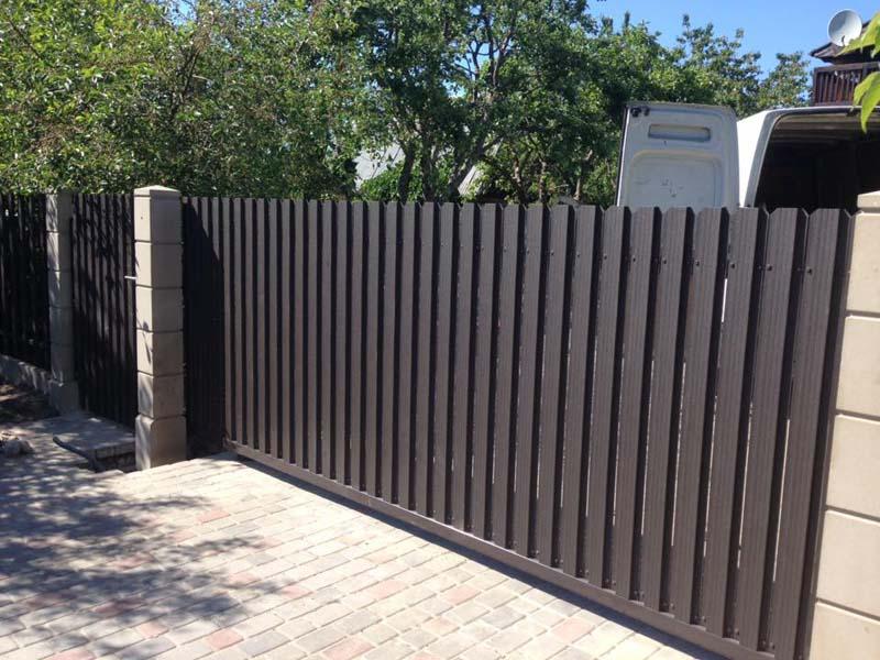 Aluzinc zogi staketa zogi Riga Latvija uzstadisana 9 1